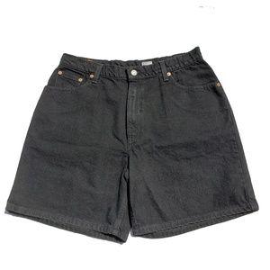 Vintage New Levis Shorts Sz 14 Bla k Wedgie